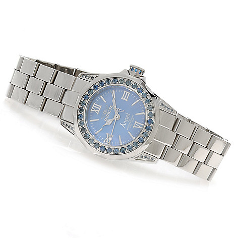 623-549 - Invicta Women's Angel Mini Gems Limited Edition 1.46ctw Sapphire Bezel Bracelet Watch