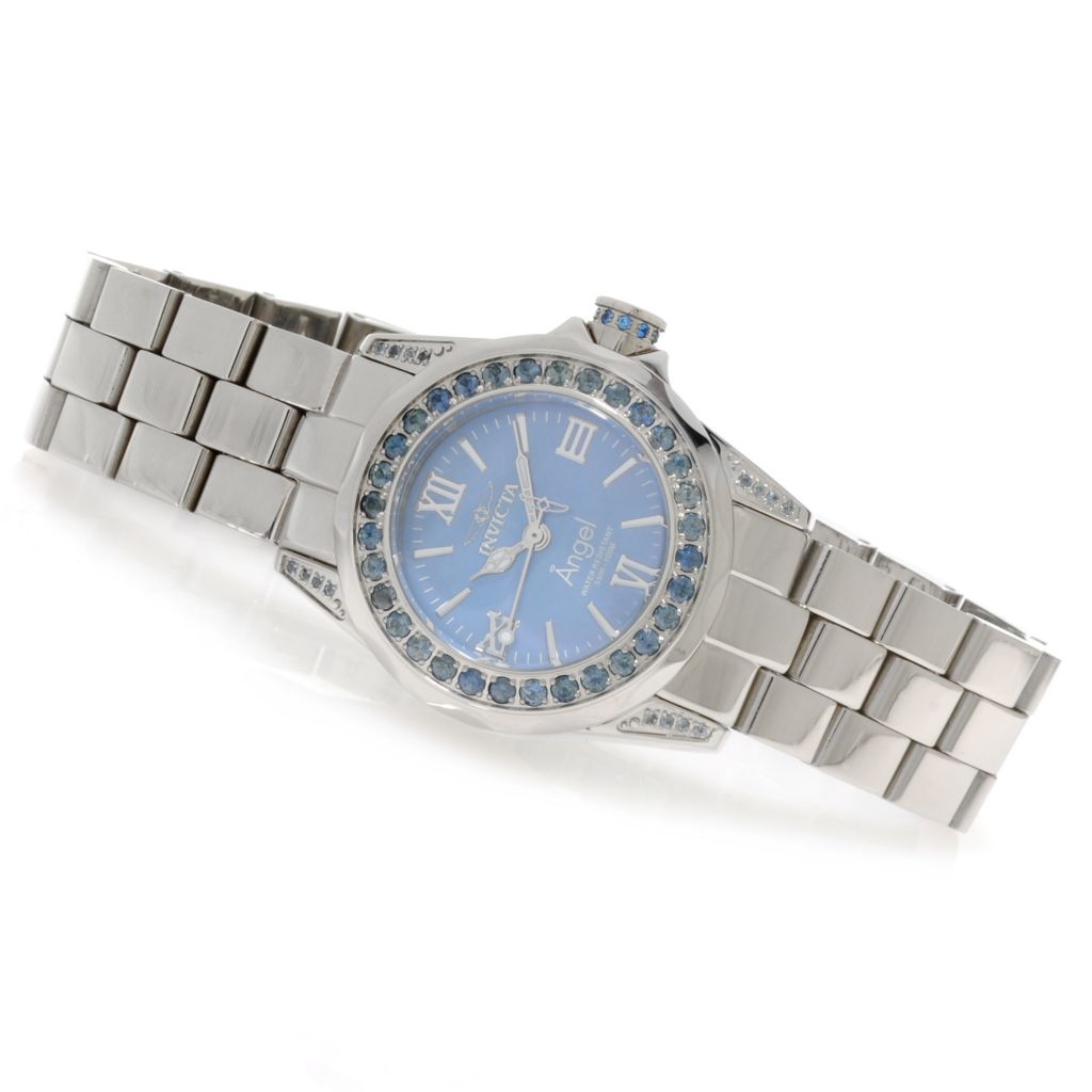 623-549 - Invicta Women's Angel Mini Gems Limited Edition Sapphire Bezel Bracelet Watch