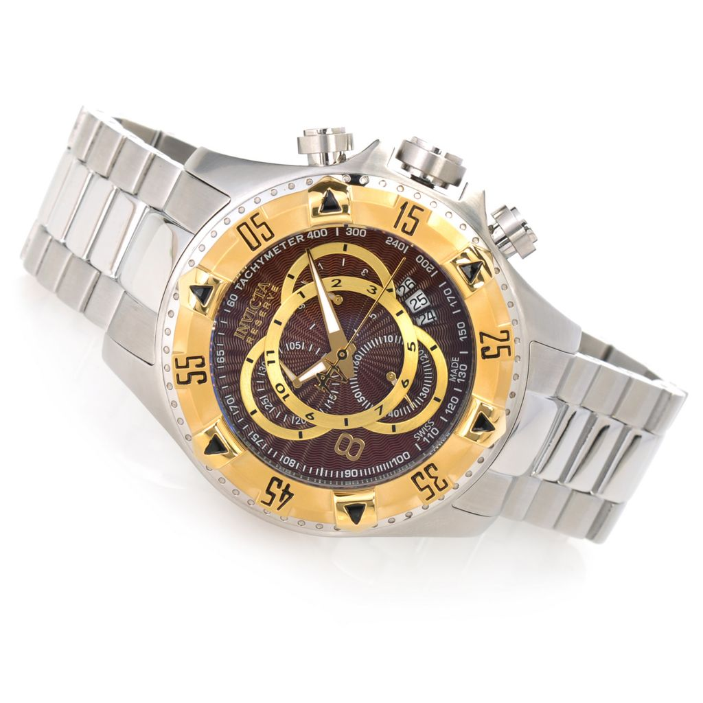 623-570 - Invicta Reserve Men's Excursion Swiss Chronograph Bracelet Watch w/ Three-Slot Dive Case
