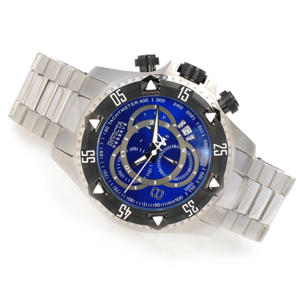 623-571 - Invicta Reserve Men's Excursion Swiss Chronograph Bracelet Watch w/ Three-Slot Dive Case