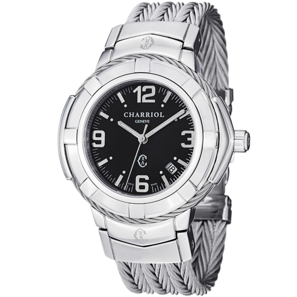 623-603 - Phillipe Charriol Ladies Stainless Steel Bracelet Watch
