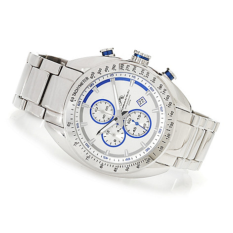 623-616 - Porsamo Bleu Men's ''The Julien'' Quartz Chronograph Stainless Steel Bracelet Watch