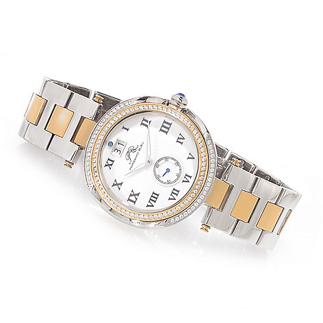 623-617 - Porsamo Bleu Women's South Sea Bracelet Watch Made w/ Swarovski® Elements