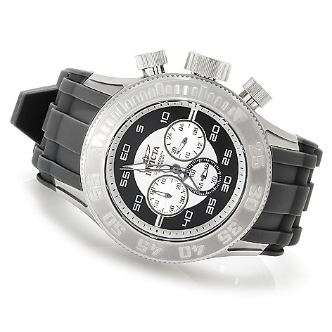 623-622 - Invicta Men's Pro Diver XL Quartz Chronograph Stainless Steel Silicone Strap Watch