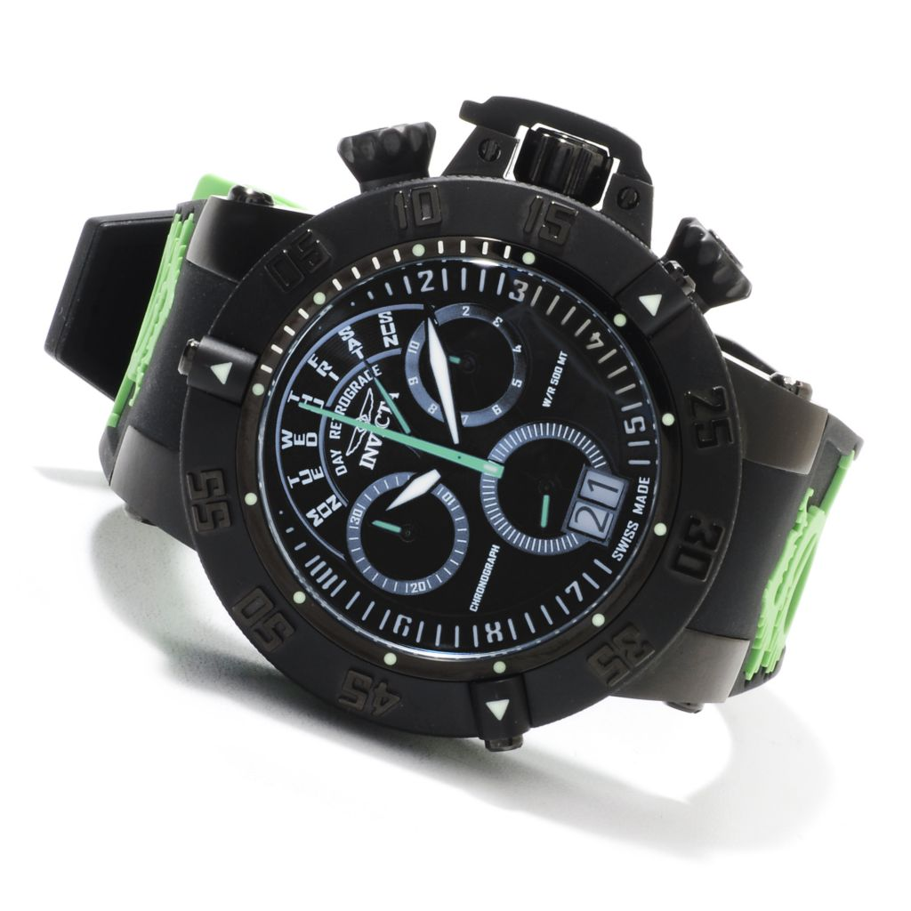 623-625 - Invicta Men's Subaqua Noma III Swiss Chronograph Silicone Strap Watch w/ Three-Slot Dive Case