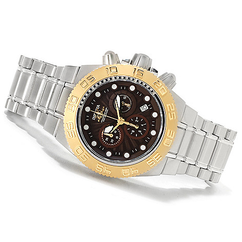 623-626 - Invicta Men's Subaqua Sport Quartz Chronograph Bracelet Watch w/ Three-Slot Dive Case