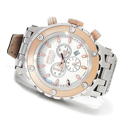623-628 - Invicta Reserve Men's Specialty Subaqua Swiss Made Chronograph Watch w/ Three-Slot Dive Case