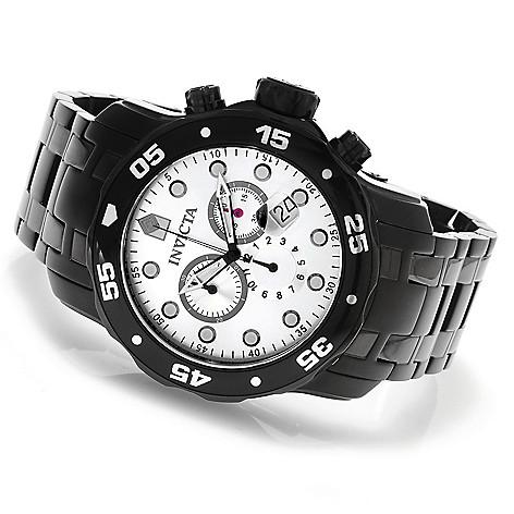 623-630 - Invicta Men's Pro Diver Scuba Quartz Chronograph Stainless Steel Bracelet Watch