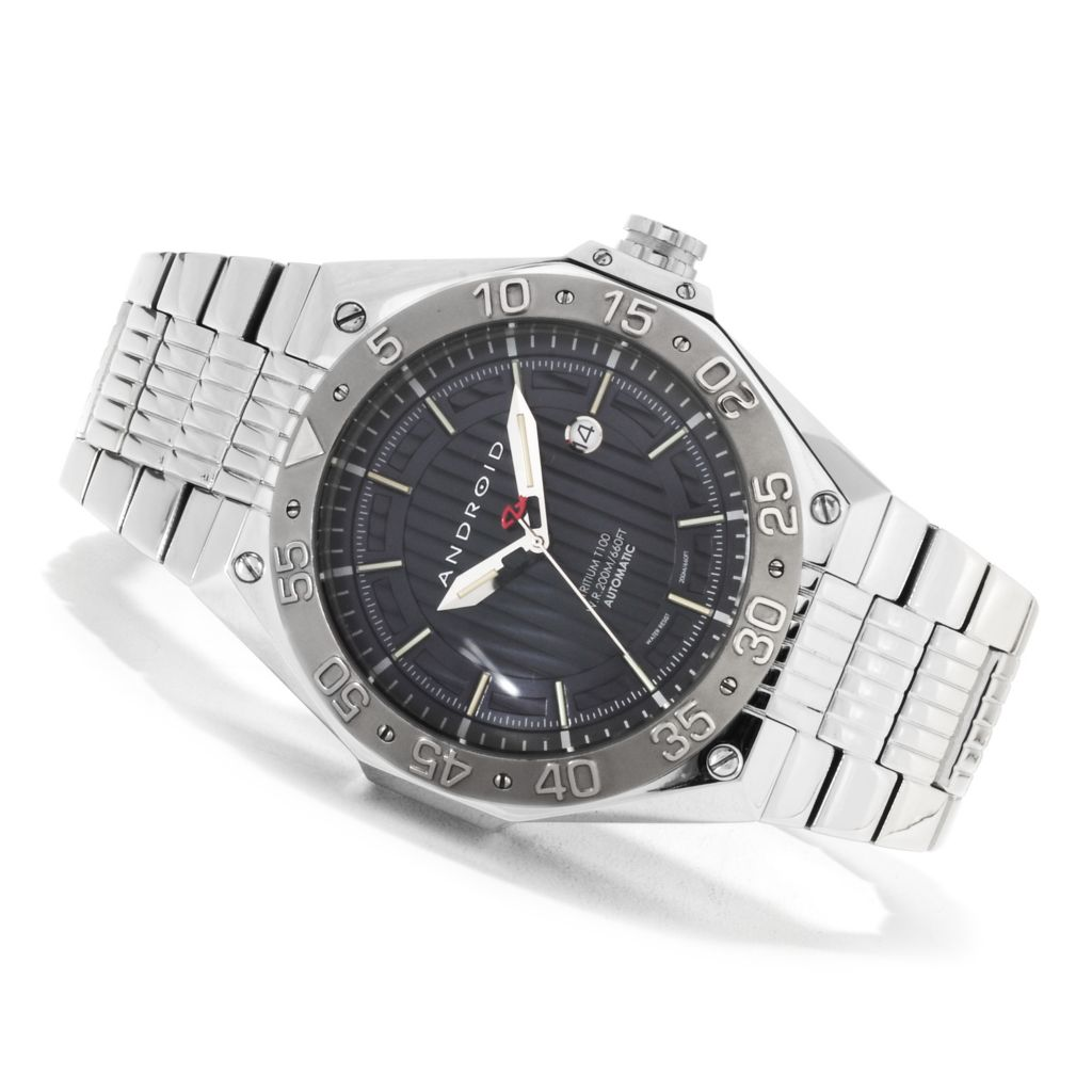 623-647 - Android Men's Enterprise T100 Automatic Stainless Steel Bracelet Watch