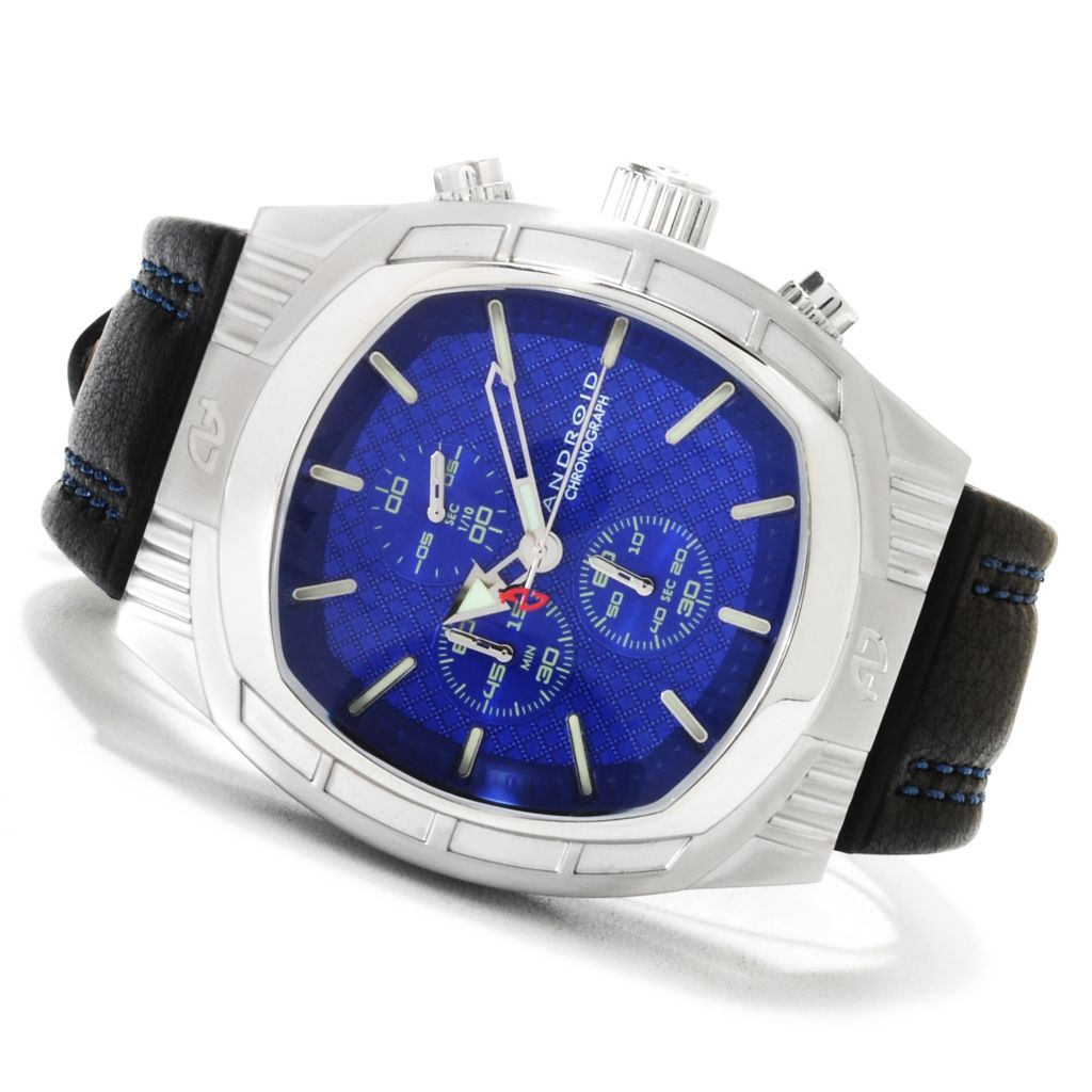 623-650 - Android Men's Cocoon Quartz Chronograph Leather Strap Watch