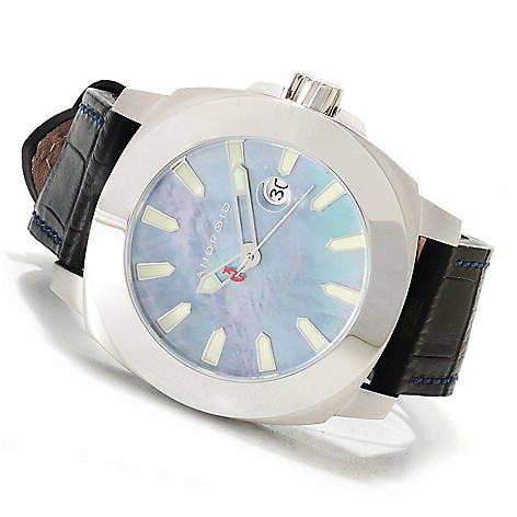 623-654 - Android Men's Parma 9015 Automatic Mother-of-Pearl Leather Strap Watch