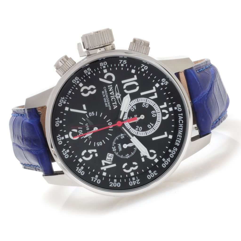 623-658 - Invicta Men's I Force Quartz Chronograph Alligator Strap Watch