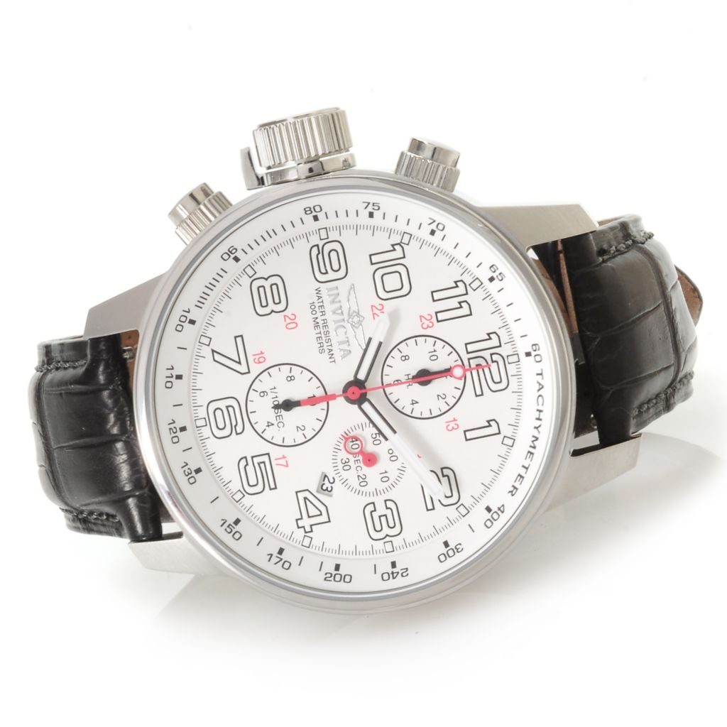 623-661 - Invicta Men's I Force Quartz Chronograph Alligator Strap Watch