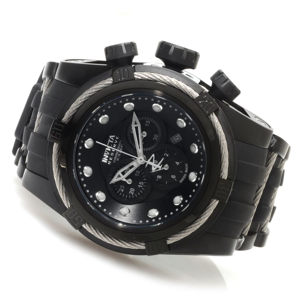 623-668 - Invicta Reserve 52mm Bolt Zeus Swiss Made Quartz Chronograph Polyurethane Strap Watch