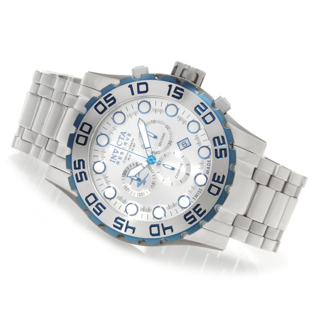 623-669 - Invicta Reserve Men's Leviathan Swiss Chronograph Bracelet Watch w/ Three-Slot Dive Case