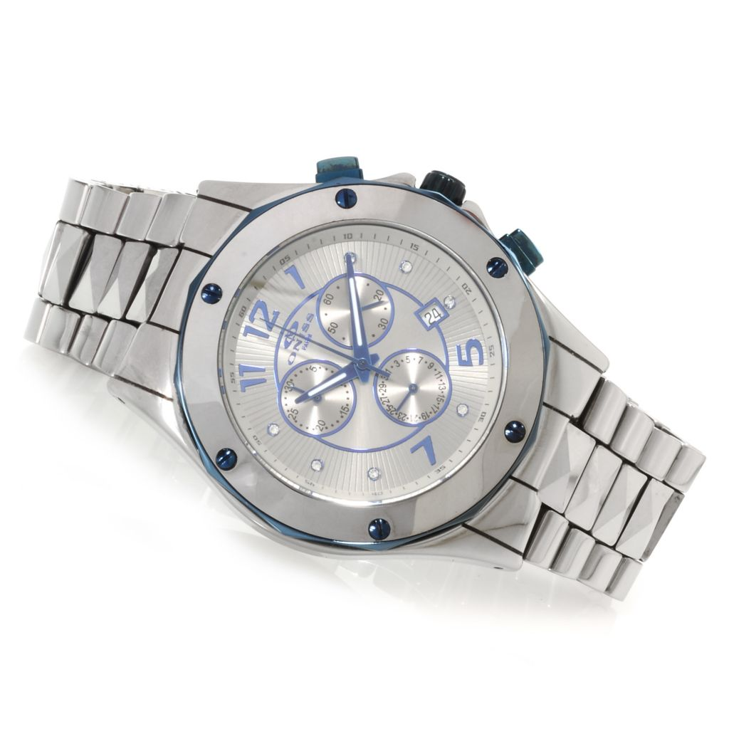 623-674 - Oniss Men's Sphinx Collection Quartz Chronograph Ceramic Bracelet Watch