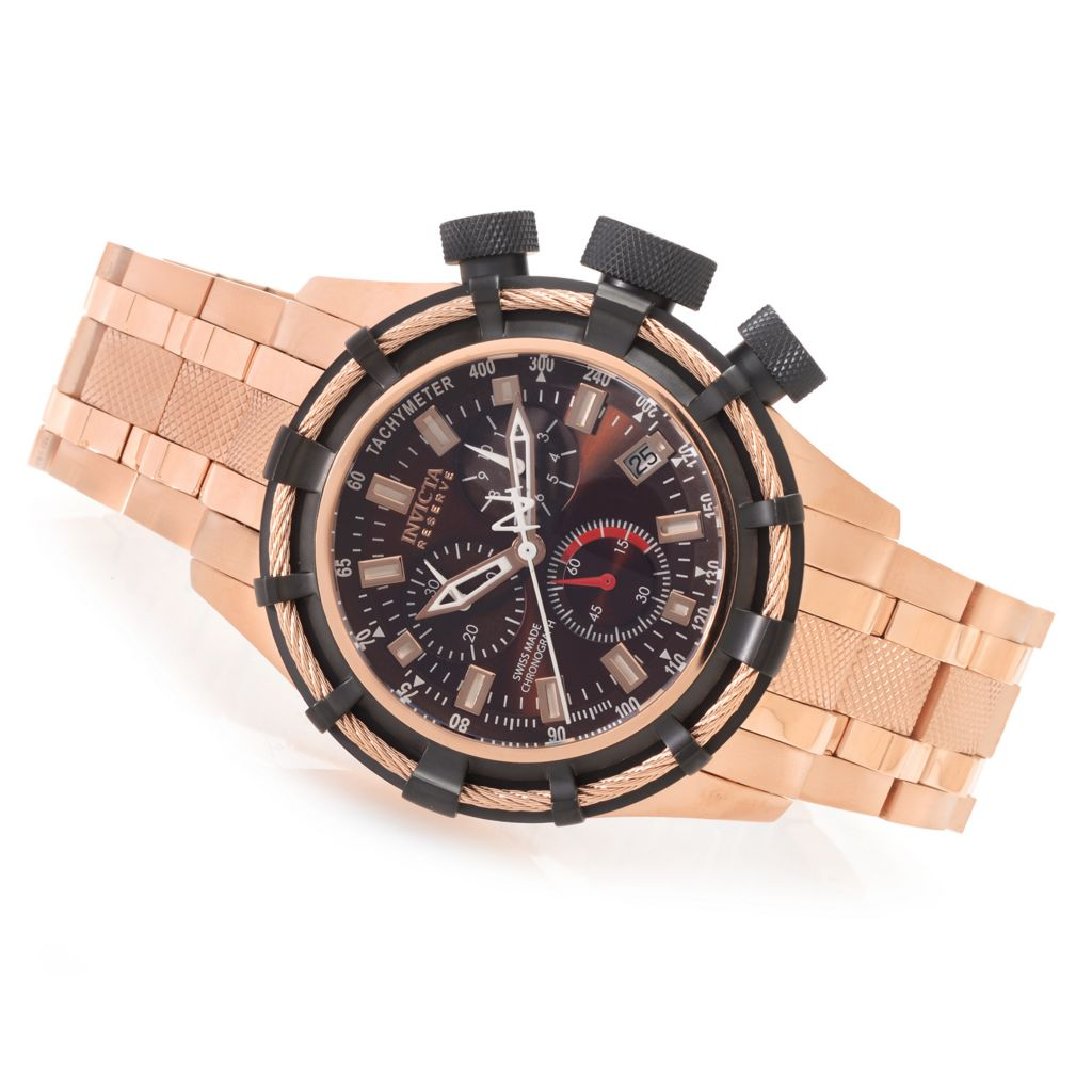 623-680 - Invicta Reserve 50mm Bolt Swiss Quartz Chronograph Bracelet Watch w/ One-Slot Dive Case