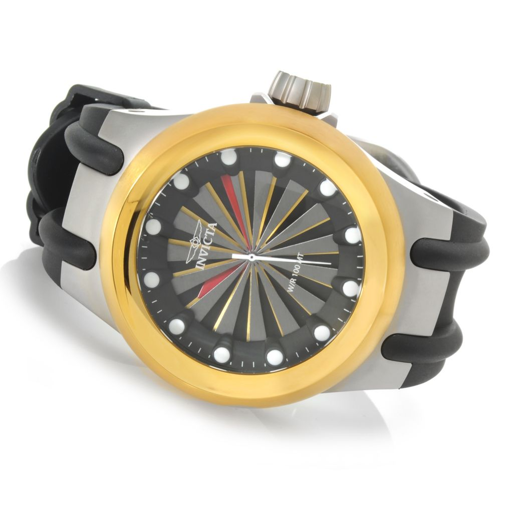 623-684 - Invicta 48mm Aviator S1 Turbine Quartz Stainless Steel Case Polyurethane Strap Watch