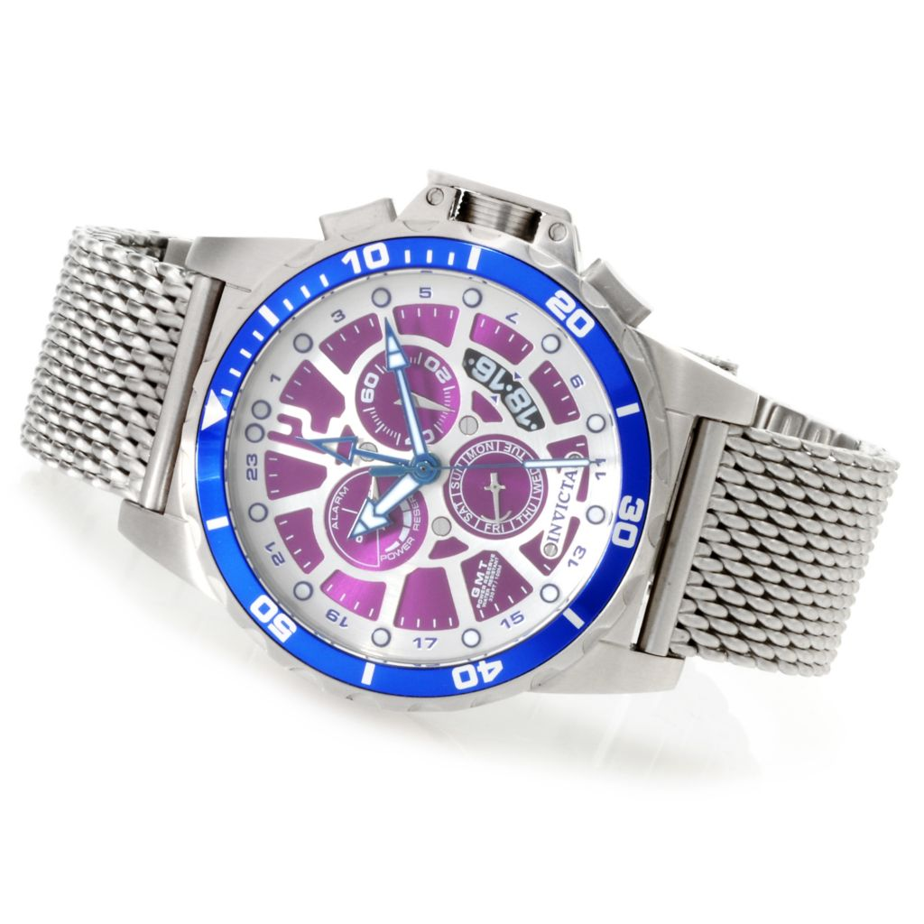 623-699 - Invicta Men's Corduba Quartz GMT Alarm Mesh Bracelet Watch