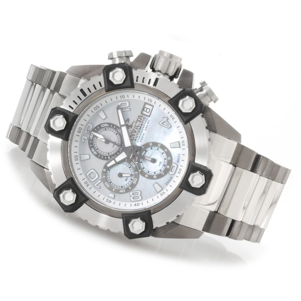 623-702 - Invicta Reserve 52mm Grand Arsenal Swiss Made Automatic A07 Chronograph Bracelet Watch
