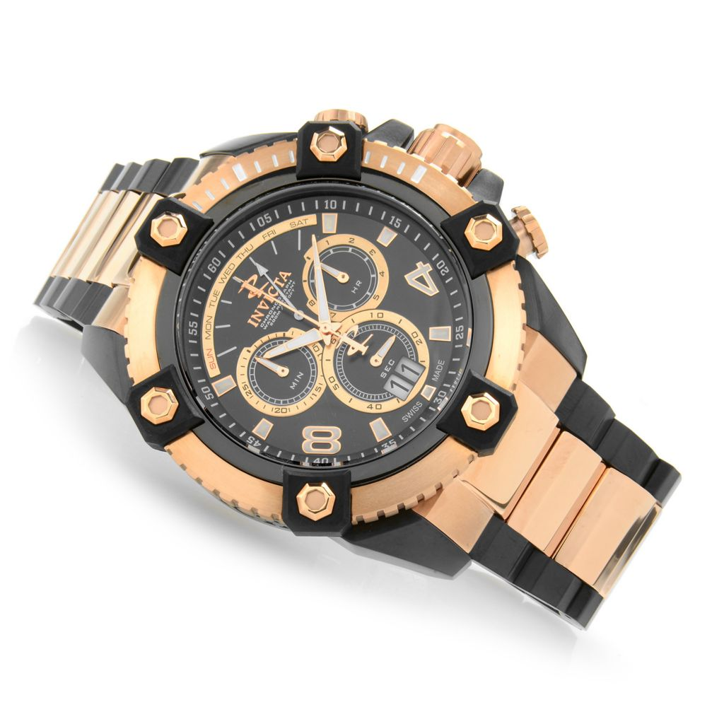 623-707 - Invicta Reserve Men's Grand Arsenal Swiss Made Bracelet Watch w/ Three-Slot Dive Case