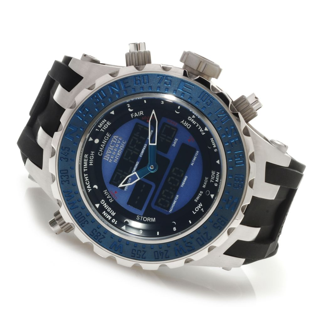 623-714 - Invicta Reserve 52mm Specialty Subaqua Intrinsic Swiss Ana/Digi Silicone Strap Watch