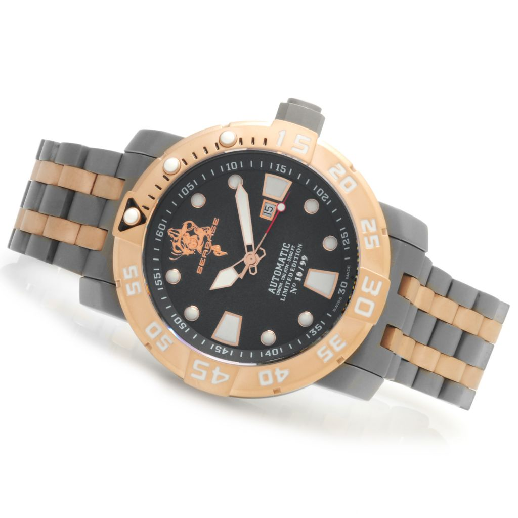 623-731 - Invicta Men's Sea Base Limited Edition Swiss Made Automatic Titanium Bracelet Watch