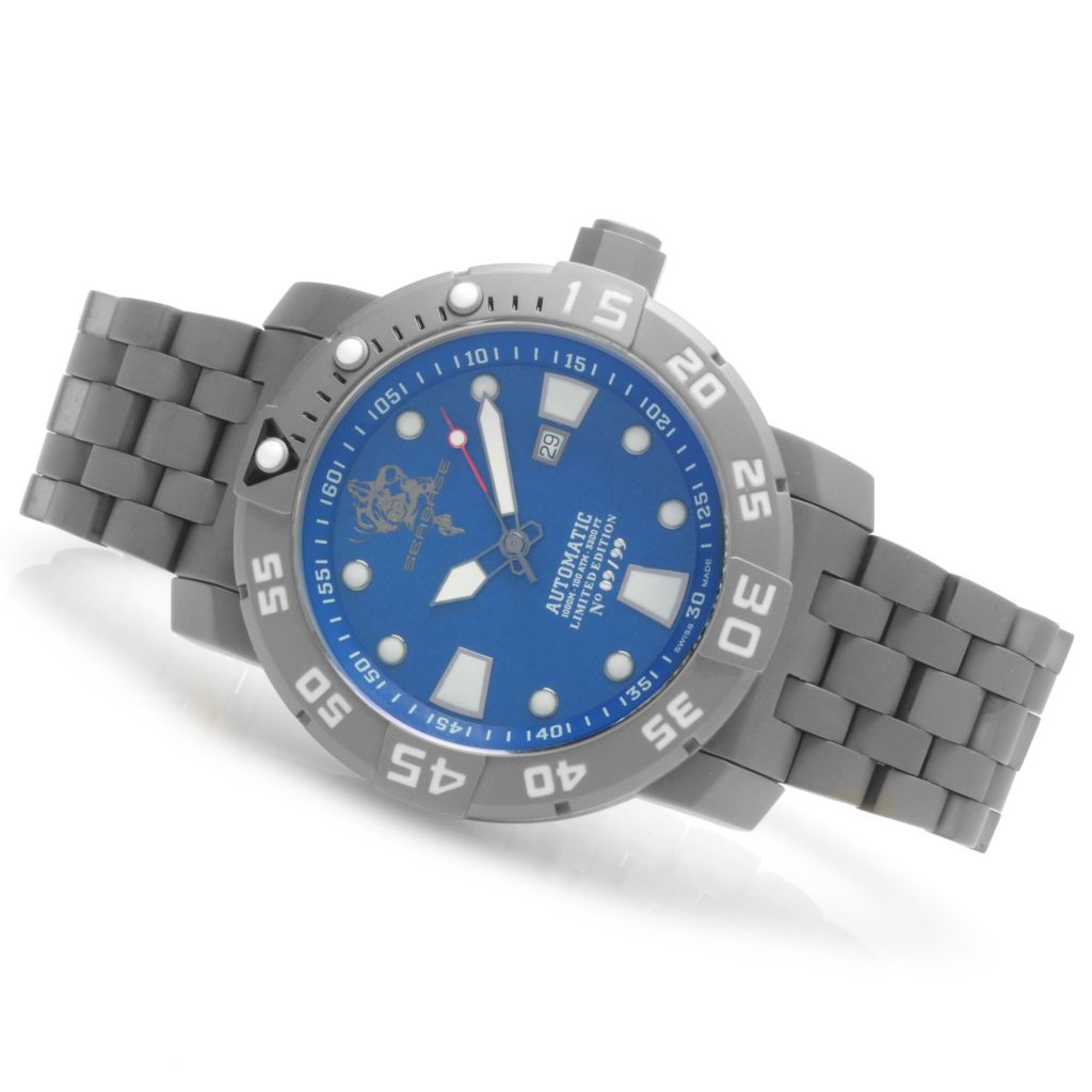 623-732 - Invicta Men's Sea Base Limited Edition Swiss Made Automatic Titanium Bracelet Watch