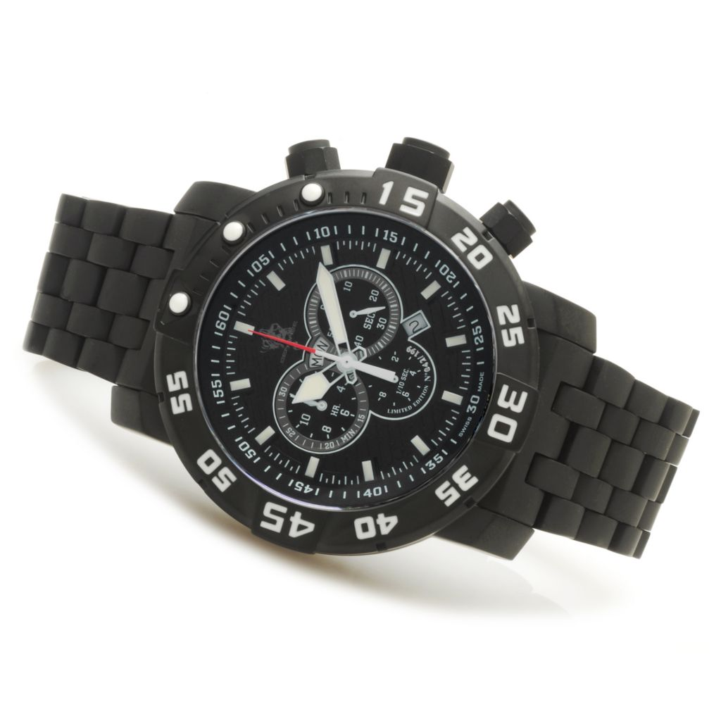 623-735 - Invicta Men's Sea Base Limited Edition Swiss Made Quartz Chronograph Titanium Bracelet Watch