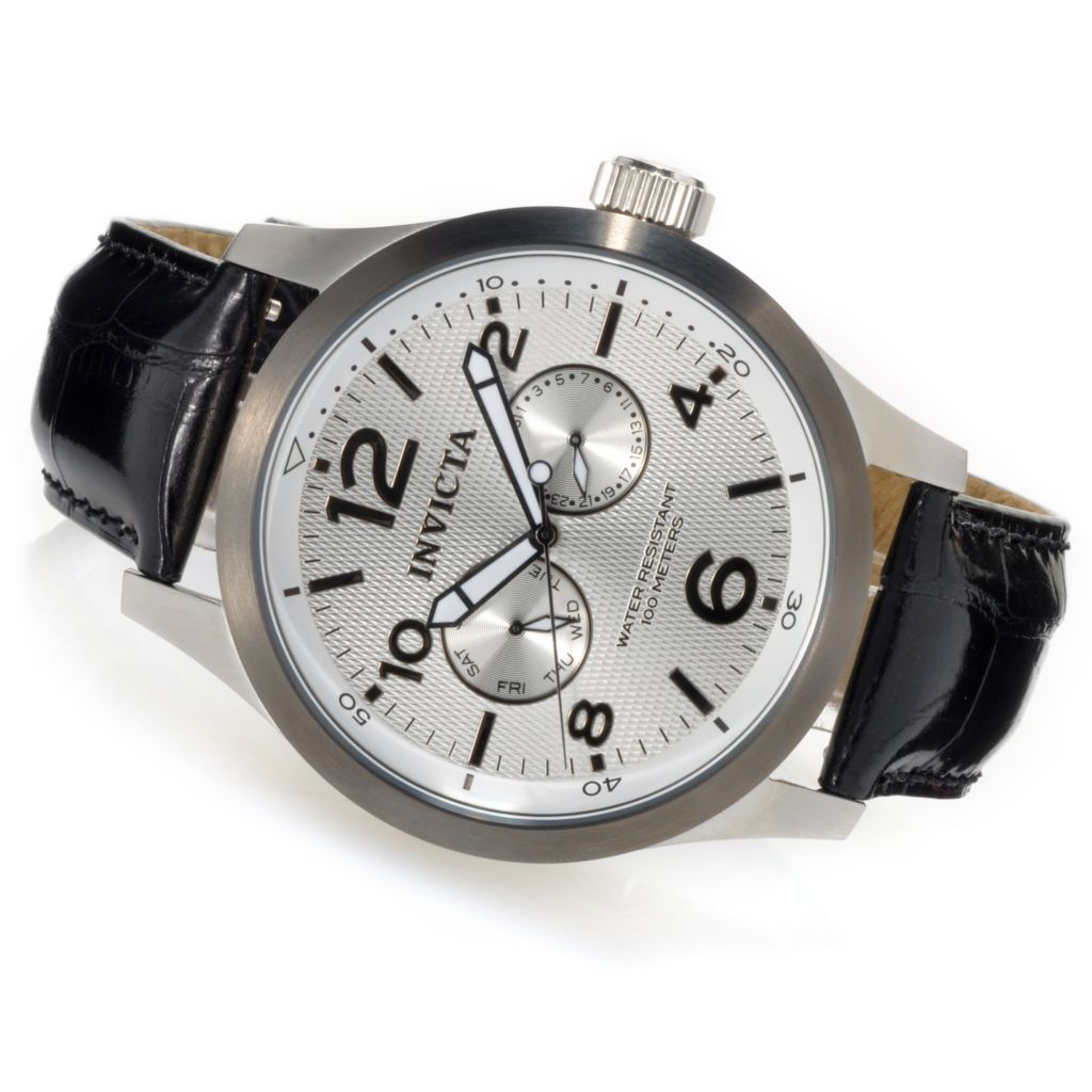623-754 - Invicta Men's I Force Quartz Stainless Steel Alligator Strap Watch