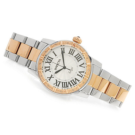 623-764 - Invicta Women's Angel Vintage Diamond Accented Bracelet Watch w/ Travel Box