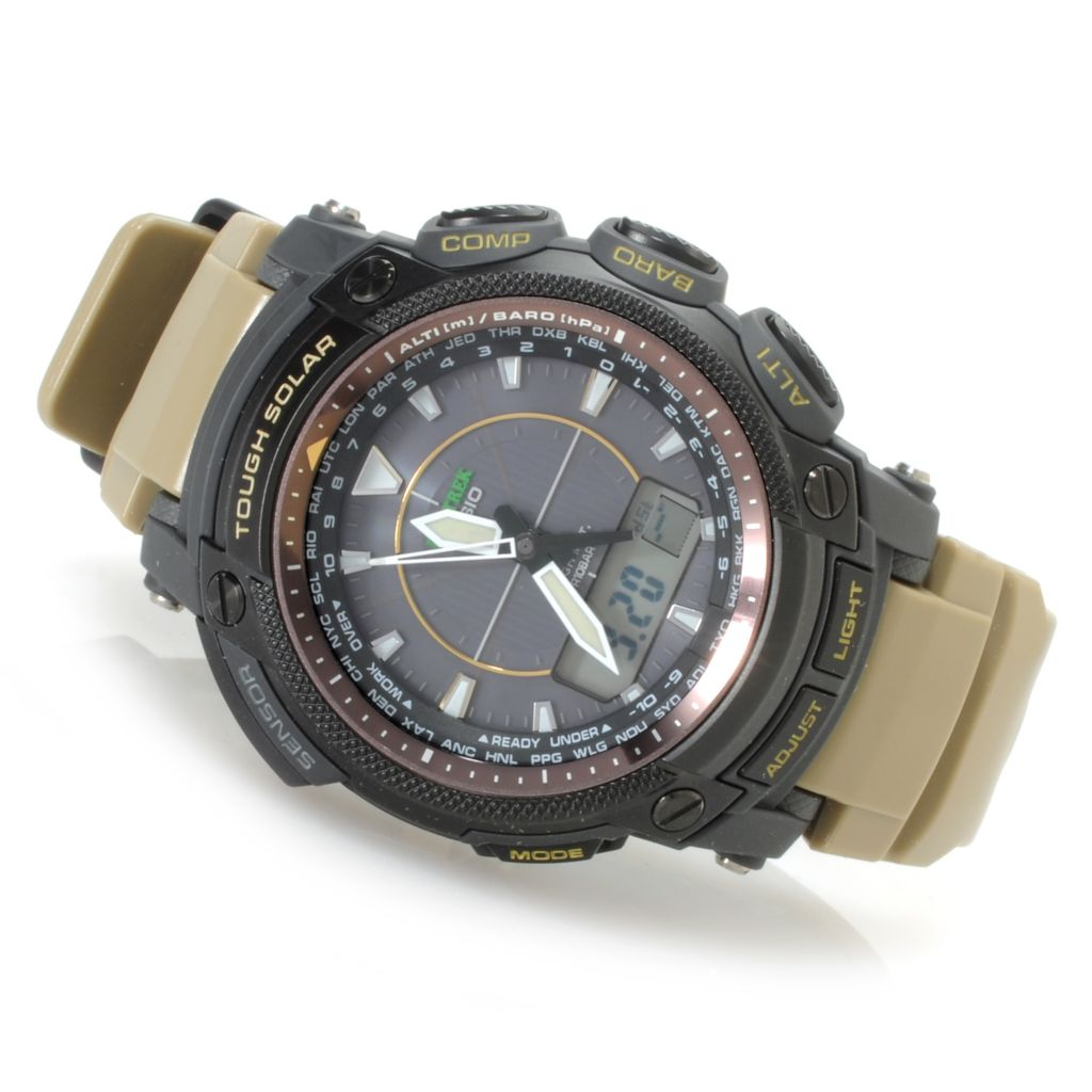 623-768 - Casio Men's Pro Trek Digital Solar Quartz Multi-Function Rubber Strap Watch