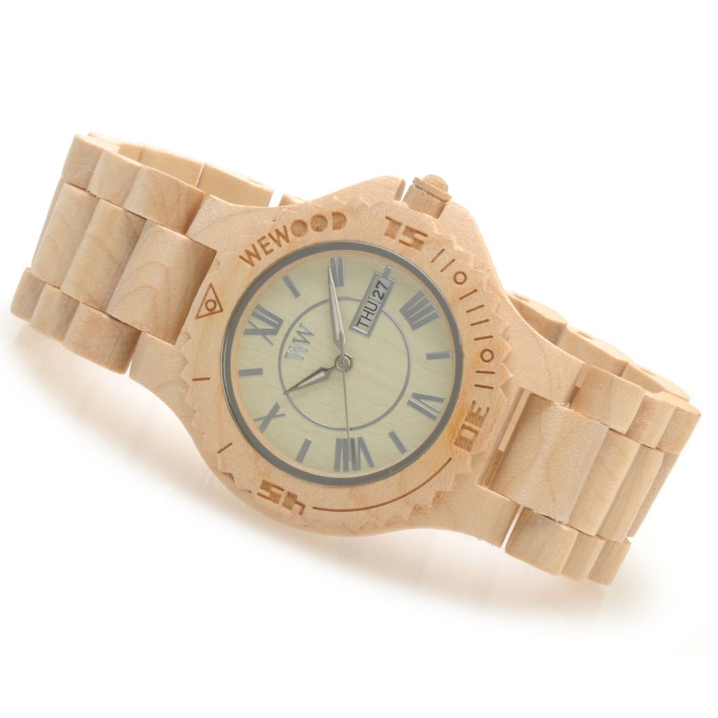 "623-778 - WeWOOD Women's ""Roman"" Quartz Wooden Bracelet Watch"