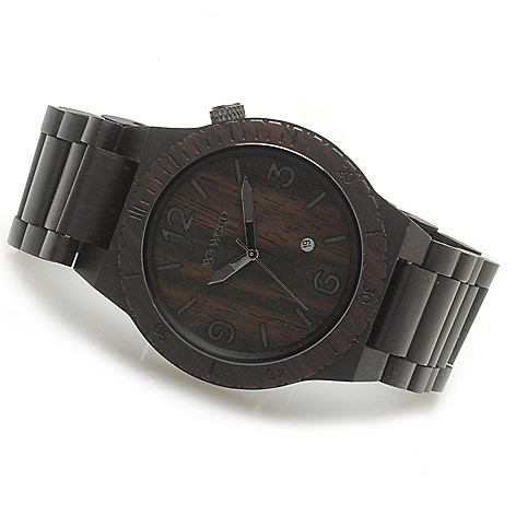 623-779 - WeWOOD 46mm ''Alpha'' Quartz Wooden Bracelet Watch