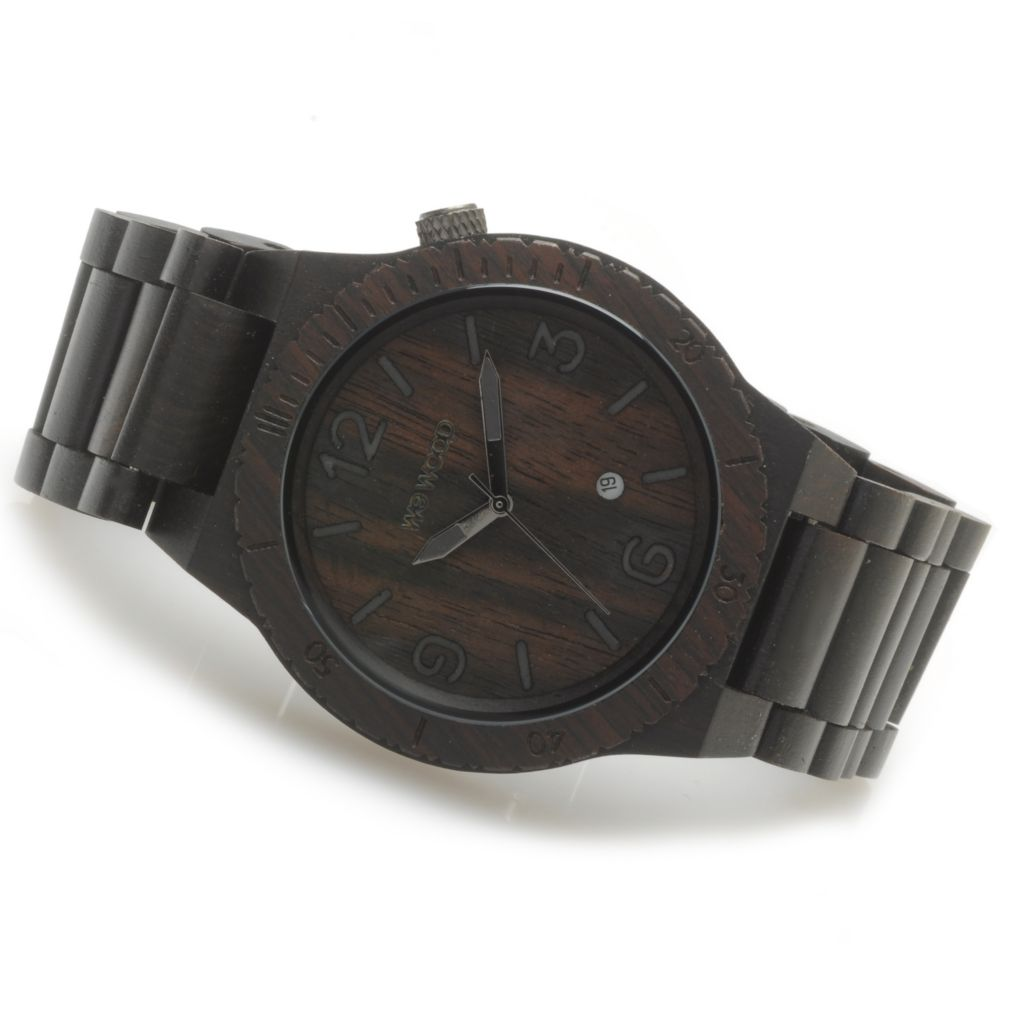 "623-779 - WeWOOD 46mm ""Alpha"" Quartz Wooden Bracelet Watch"