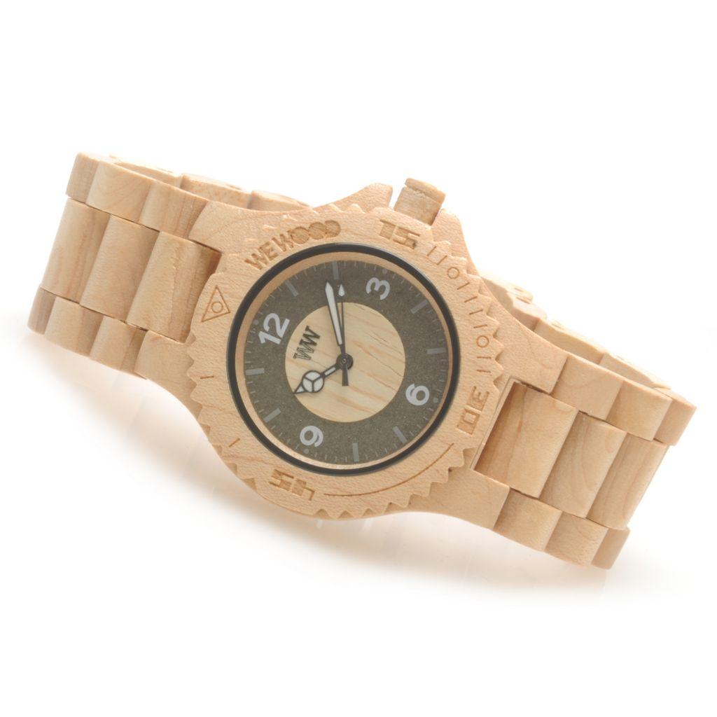 623-781 - WeWOOD 41mm Sirio Quartz Wooden Bracelet Watch