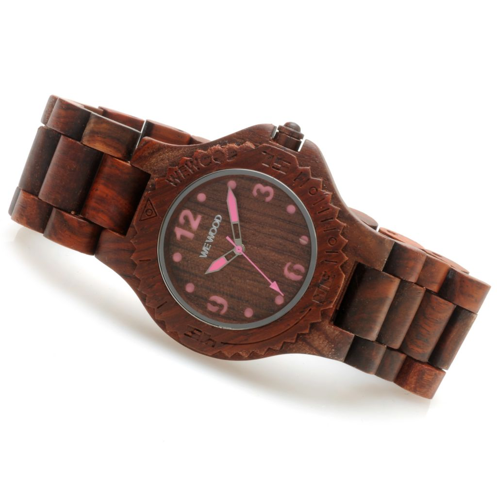 623-782 - WeWOOD 42mm Kale Quartz Wooden Bracelet Watch
