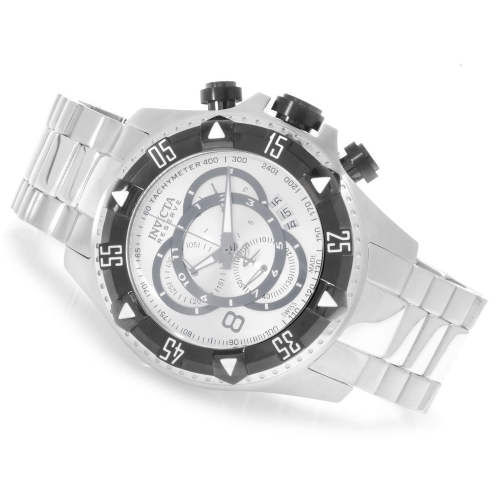 623-796 - Invicta Reserve Men's Excursion Touring Swiss Made Bracelet Watch w/ Three-Slot Dive Case