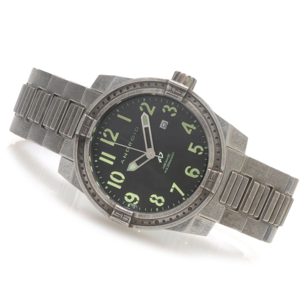 623-803 - Android Men's Frontline Limited Edition Automatic Stainless Steel Bracelet Watch