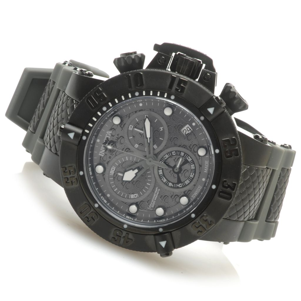 623-854 - Invicta 50mm Subaqua Noma III Swiss Chronograph Stainless Steel Silicone Strap Watch