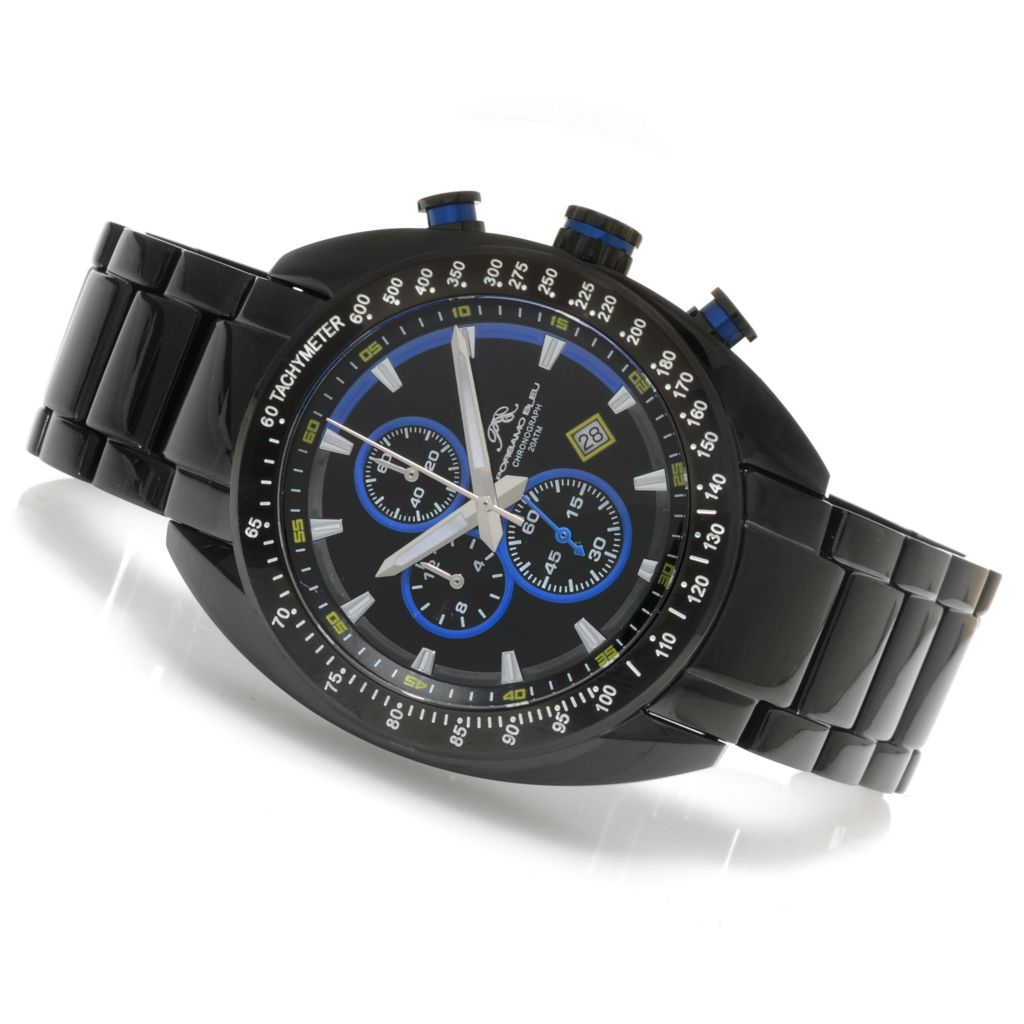 623-902 - Porsamo Bleu 46mm Julien Quartz Chronograph Tachymeter Stainless Steel Bracelet Watch