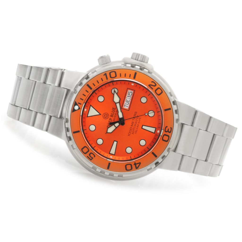 623-924 - Deep Blue Men's Sun Diver III Automatic Stainless Steel Bracelet Watch
