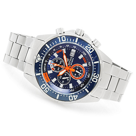623-926 - Deep Blue Men's Depth Meter Professional Quartz Chronograph Bracelet Watch