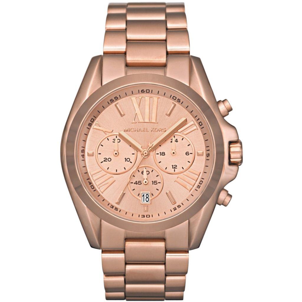 623-935 - Michael Kors Women's Bradshaw Quartz Chronograph Stainless Steel Bracelet Watch