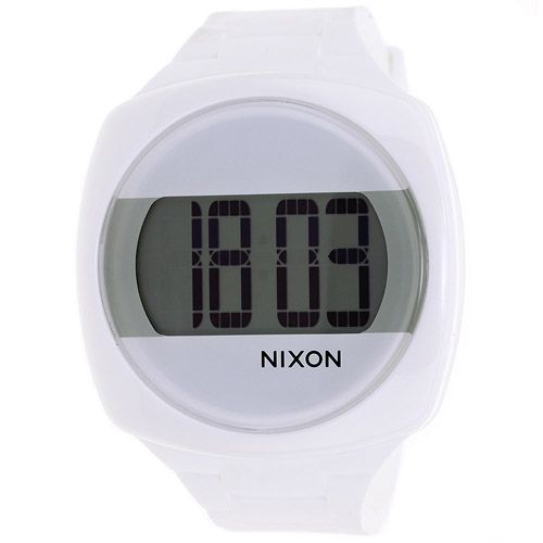 623-952 - Nixon Rectangle Dash Quartz Silicone Strap Watch