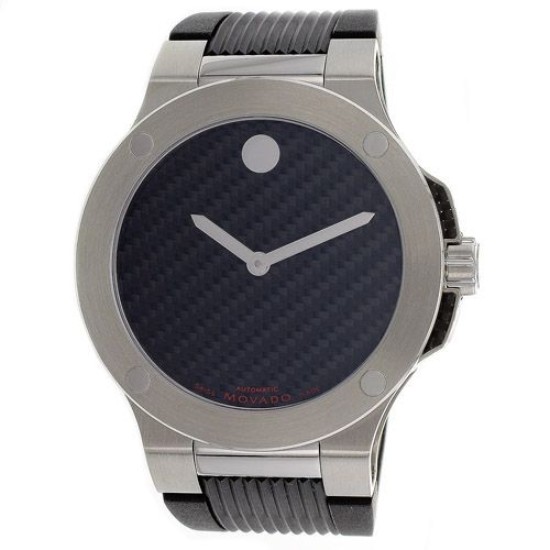 623-963 - Movado Men's Classic Automatic Rubber Strap Watch