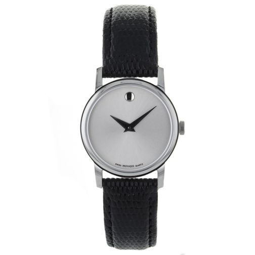 623-972 - Movado Women's Museum Quartz Stainless Steel Leather Strap Watch