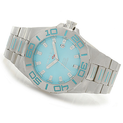 623-974 - Android 48mm or 45mm Bioluminescence T100 Automatic Stainless Steel Bracelet Watch