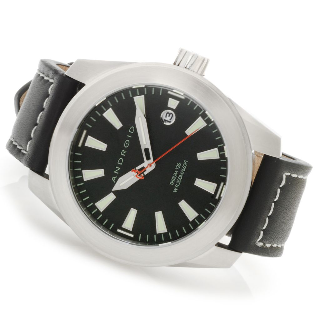 623-975 - Android Skyguardian T25 Quartz Deep Dish Dial Strap Watch