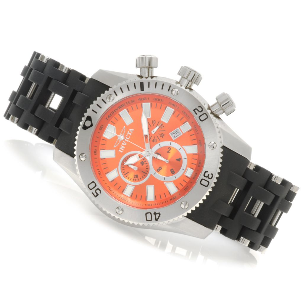 623-983 - Invicta Men's Sea Spider Quartz Chronograph Stainless Steel Polyurethane Bracelet Watch